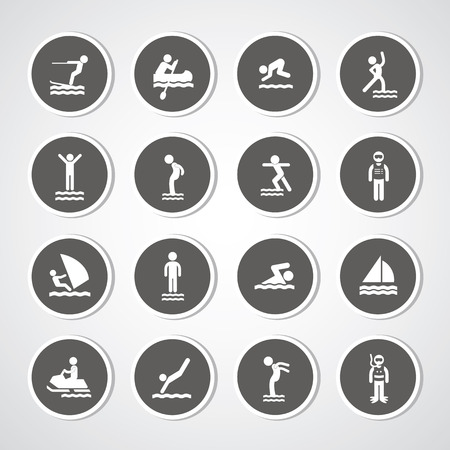 water sport icon for use