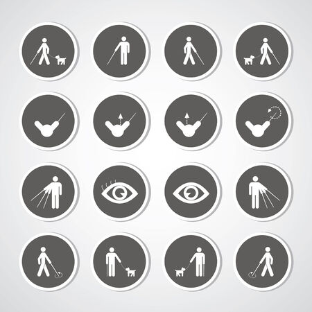 blind man symbol for use  Vector