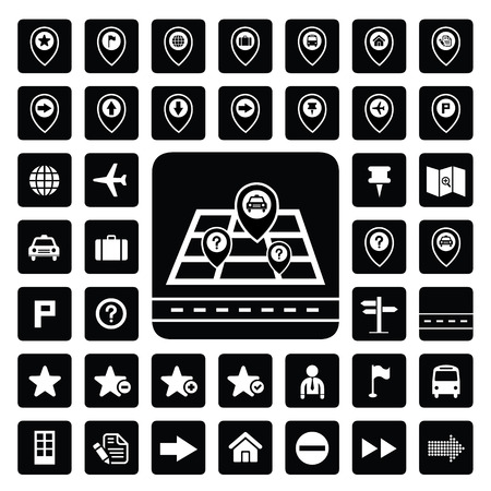Map and Location Icons for every place  Vector