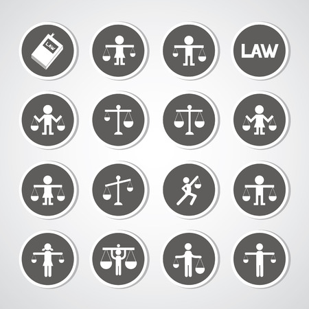 scales icon on gray background   Vector