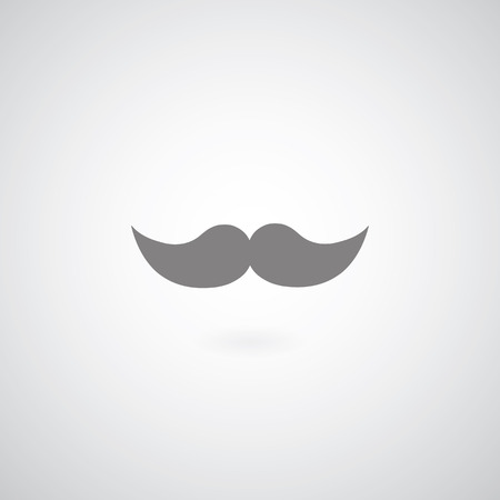 vintage mustache symbol on gray background  Vector