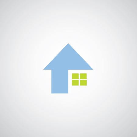 roofer: house symbol on gray background  Illustration
