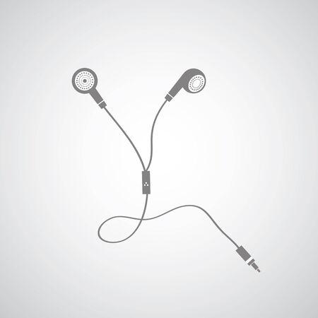 earphone symbol on gray background