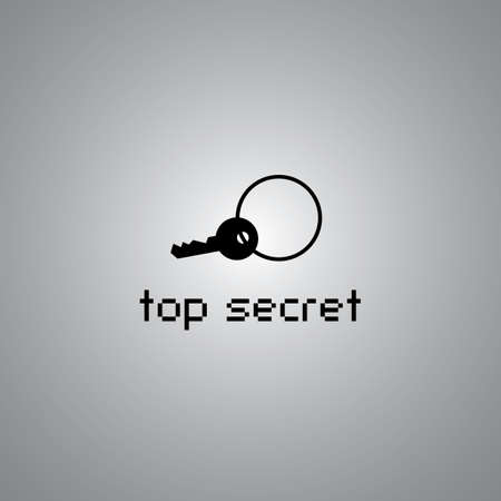 top secret symbol on gray background  Vector