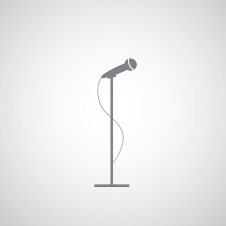canvass: vector microphone on gray background