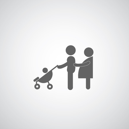Family symbol on gray background  Vector