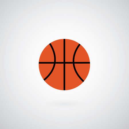 international basketball: Basketball symbol on gray background  Illustration
