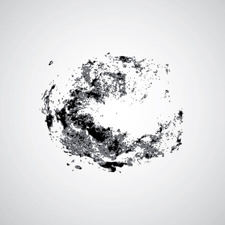 Galaxies symbol design on gray background  Vector