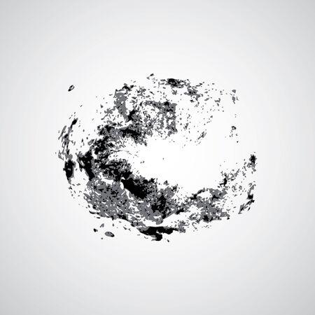 Galaxies symbol design on gray background  Illustration