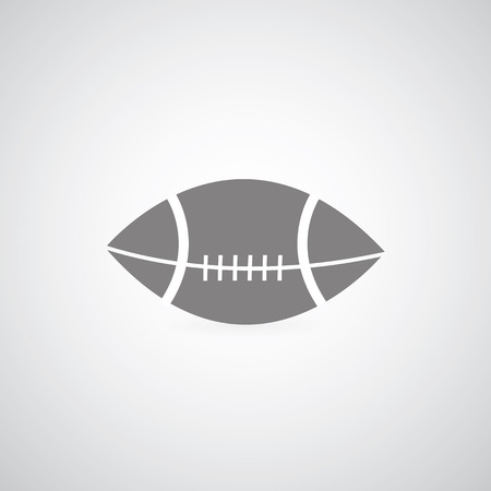 american football symbol on gray background  Vector