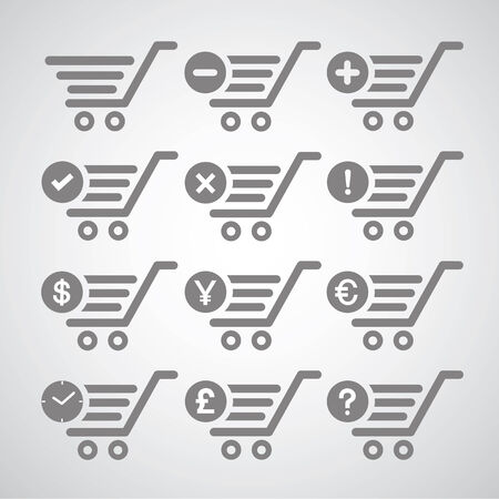 cart symbol on gray background Vector