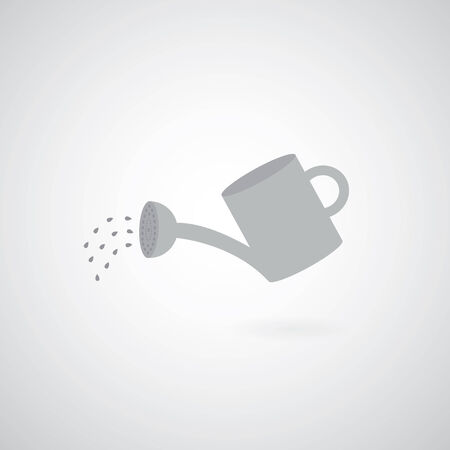 spout: watering can symbol  on gray background  Illustration