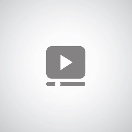 video player: play button on gray background