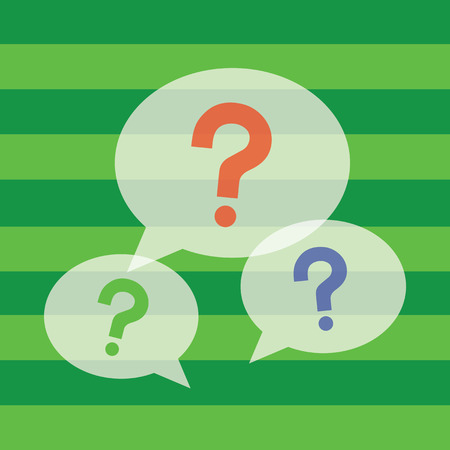 question mark symbol on green background  Vector