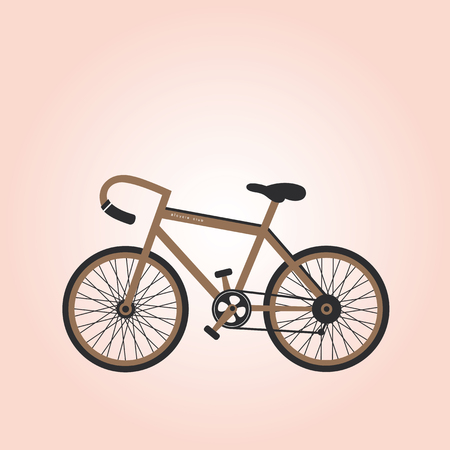 Retro bicycle vector cartoon   Vector