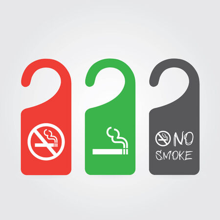 cigar shape: hanger tags for no smoking and smoking area