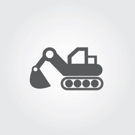 loader vector icons on gray background Stock Vector - 28036031