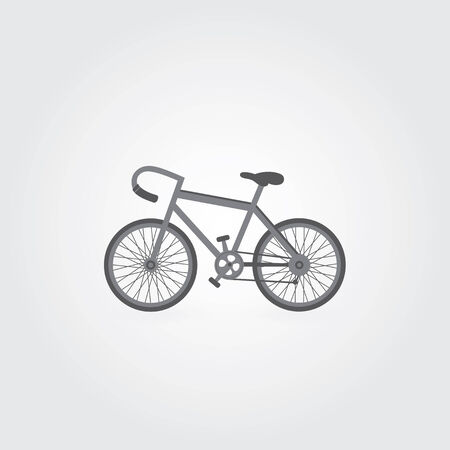 Retro bicycle symbol on gray background  Vector