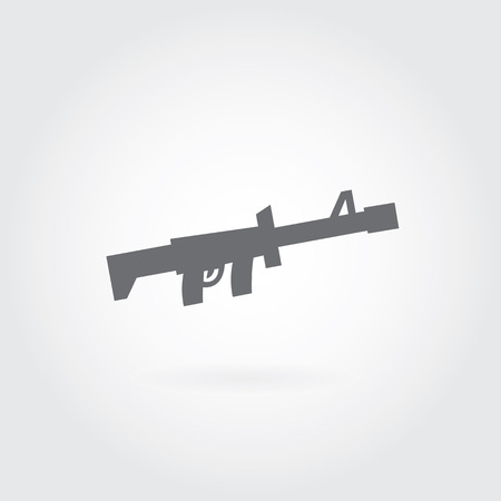rifle vector symbol on gray background  Vector