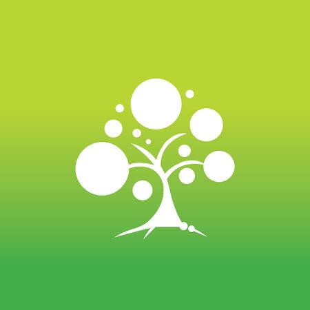baum symbol: Baum-Symbol auf gr�nem Hintergrund Illustration