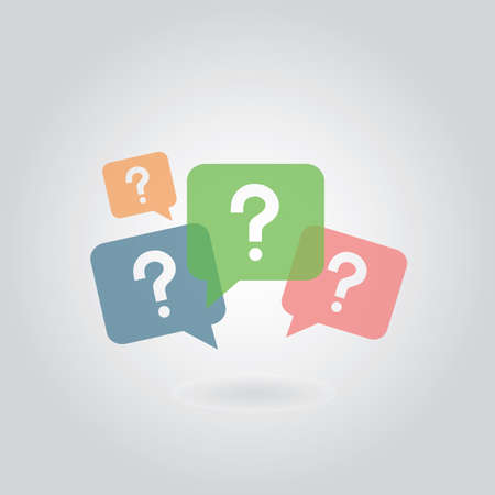 inquiry: question mark symbol on gray background   Illustration