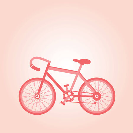 pink retro bicycle vector cartoon  Vector