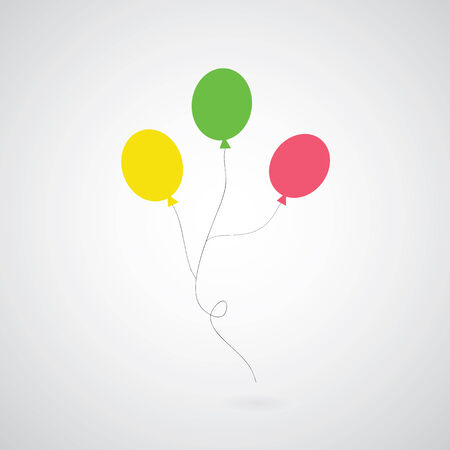 party balloons: balloon symbol on gray background  Illustration