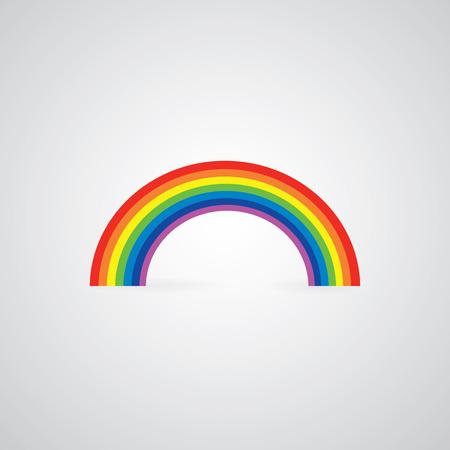 vector rainbow on gray background  矢量图像