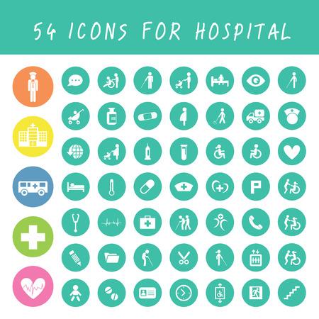vector basic icon for hospital