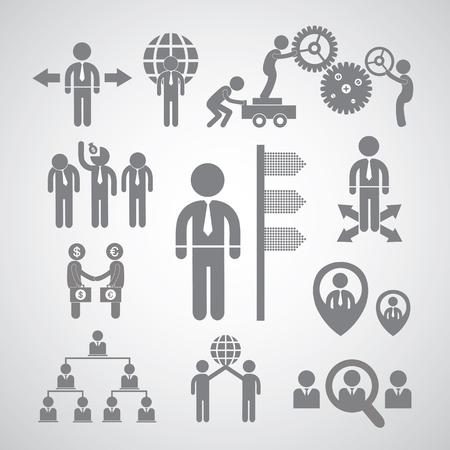 Business management and teamwork symbol   Vector