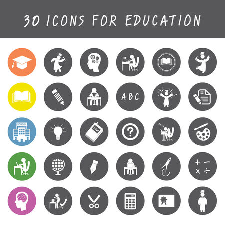 vector basic icon for education  Vector