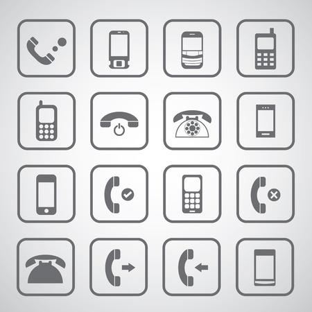 Telefon-Symbol auf weißem Hintergrund