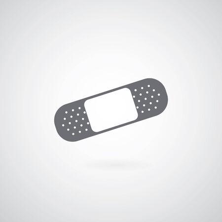 firstaid: Icono de Yeso sobre fondo gris