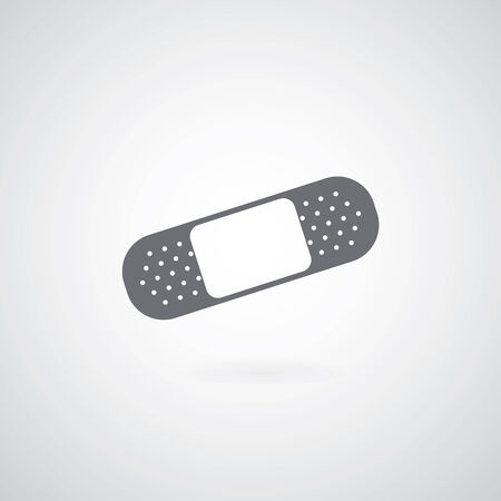 Icono de Yeso sobre fondo gris