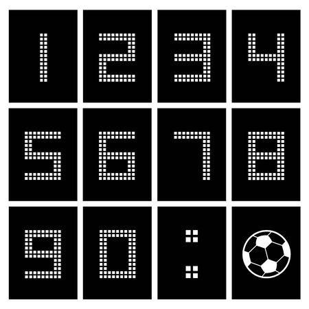soccer ball score board number  Vector