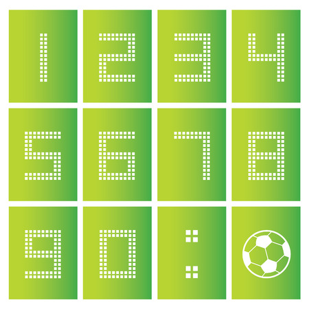 six point: soccer ball score board number