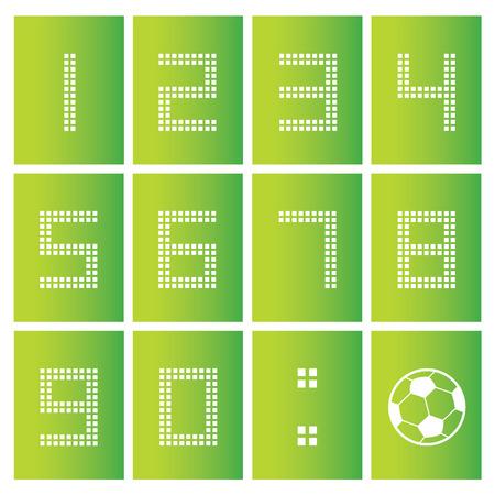 score board: soccer ball score board number