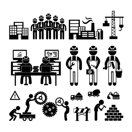 Engineering workshop in Industry icon  Vector