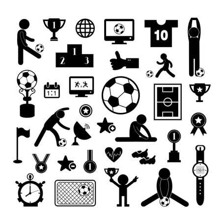 cleat: football icon set on white background   Illustration