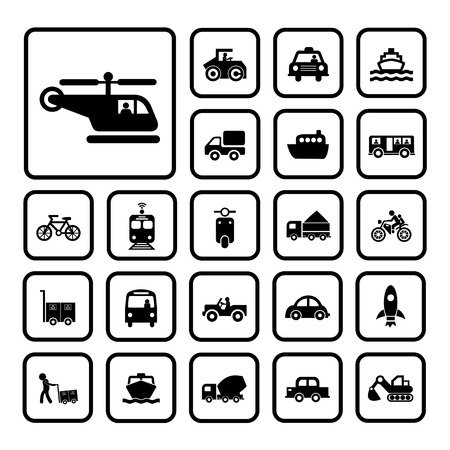 vector basic icon for transport  Vector