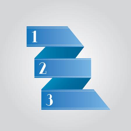 vector progress template with numbers   Vector