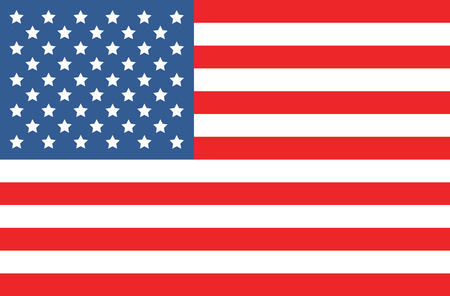 american history: vector image of american flag