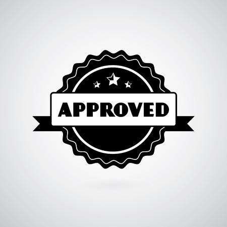 proved: Vector approved stamp vintage labels