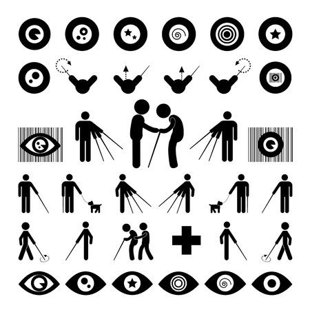 Blind man symbol on white background  Vector