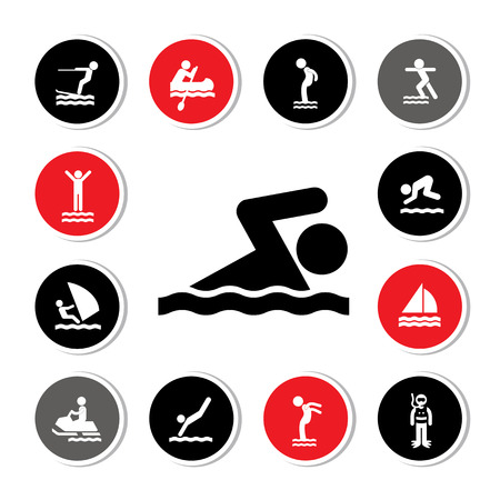 activity icon: water sport icon for use