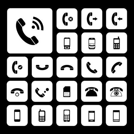 miss call: vector basic  phone icon set