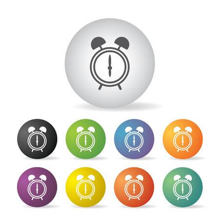alarm clock button icon set   Vector