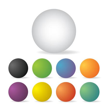 button set: blank button set for web  Illustration
