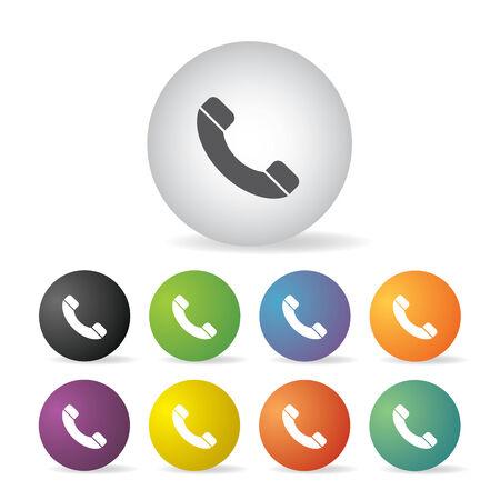 vector phone button icon set   Vector