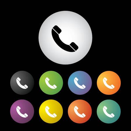 phone button: vector phone button icon set
